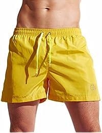 Bañadores de Natación Hombre, LILICAT® Pantalones Corto de Playa de Secado Rápido, Pantalones Cortos Boxers Deportivos de Natación Running Surf, Ropa Trajes de Baño Hombre (XL, ★ Amarillo - LI75)