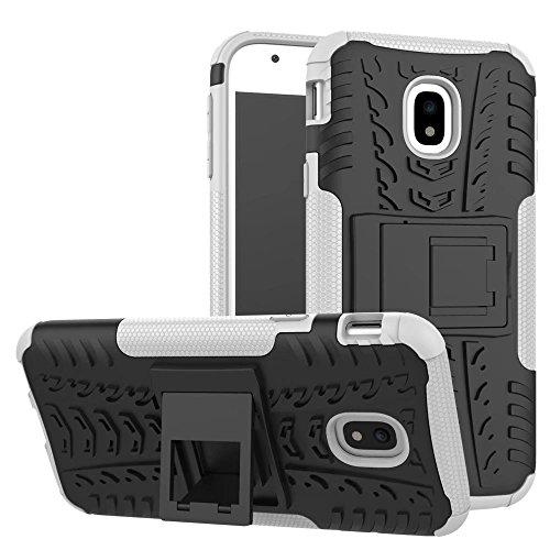 YHUISEN Hyun Pattern Dual Layer Hybrid Armor Kickstand 2 in 1 Shockproof Case Cover für Samsung Galaxy J3 Pro 2017 J330 (Europäische Version) ( Color : Green ) White
