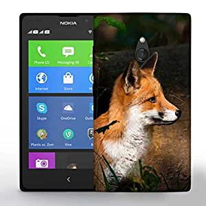 Snoogg Fox And Wood Printed Protective Phone Back Case Cover For Nokia Lumia XL