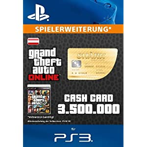 Grand Theft Auto Online | GTA V Whale Shark Cash Card | 3,500,00 GTA-Dollars | PS3 Download Code – österreichisches Konto