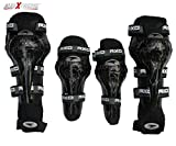 #6: AllExtreme - Sports Safety Protection Knee Pads (4pcs) - Black