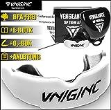 VNGNC Mundschutz | + Hygienebox + Namensschild + Anleitung + E-Book(HCG-Diät) | MMA, Krav MAGA, BJJ, Boxen, Muay Thai, Kickboxen, Rugby, Hockey, Football | einfach anpassbar | Premium Zahnschutz