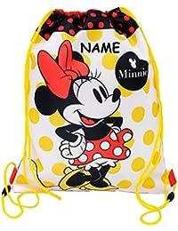 """Sportbeutel - Turnbeutel - Schuhbeutel - """" Disney Minnie Mouse """" - wasserfest / wasserabweisend - abwischbar - Mädchen / Sporttasche - für Kinder - Schulbeutel Kindergarten - Schule - Schwimmbeutel & Schwimmtasche / Sportsack - Maus / Playhouse / lustig - Wäschebeutel Beutel"""