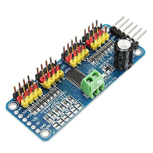 T9-fm Radio (Bluelover PCA9685 16-Kanal 12-Bit PWM-Servomotortreiber-I2C-Modul für Arduino-Roboter)