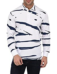 Vivid Bharti Men's White Printed Full Sleeve HIGH Quality Tshirts