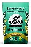 koawach Pfefferminz Kakaopulver mit Koffein aus Guarana Wachmacher Kakao - Bio, vegan und Fair Trade (220g) - Neues Design