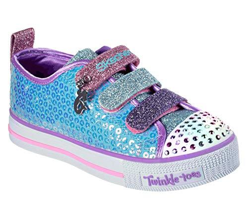 Skechers Unisex-Kinder Twinkle Lite 20062L-TQMT Sneaker, Blau (Blue), 30 EU (Mädchen Sneaker Boot)