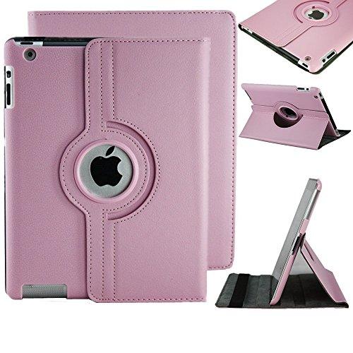 Stylische iPad 4iPad 3iPad 2360Drehbar Magnet PU Leder Schutzhülle (Baby Pink) Smart Cover Ständer für iPad 4iPad 3iPad 2