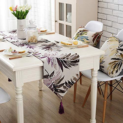 LGZOOT Tischläufer Mode Einfache Streifen Dekorative TV Cover Tuch Bett Rock Tuch,Purple-32 * 180cm