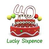 Lucky Sixpence Geschenk, zum 40. Geburtstag Tolles Viel Glück Geschenk Idee für Mann oder Frau