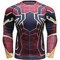 Cody Lundin Hombres Apretados Sport Fitness Manga Larga 3D Impreso Spider Compresión Long-Sleeved Tops