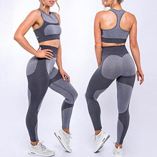 Leggings de femmes Fitness Collants - Juleya Pantalons de survêtement pour femmes Pantalons dentraînement Collants de legging pour le sport Jogging Yoga Fitness Workout Gymnastique 3 # Gris
