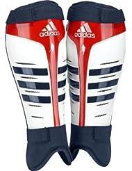 adidas - Espinilleras blanco blanco, rojo y azul Talla:small