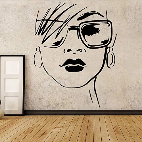 Mode Frauen Wandaufkleber PVC Wandkunst Aufkleber Moderne Mode Wandaufkleber Dekoration Zubehör für Wohnzimmer 43 * 55 cm