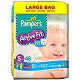 Pampers Active Fit Nappies, Size 5 (Total 48 Nappies)
