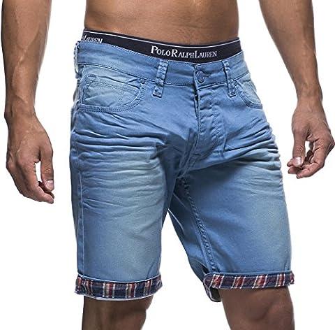 LEIF NELSON Herren Jeans Shorts LN1399-2826; W36