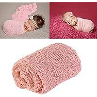 Wrap largo de la ondulación, DIY Fotografía recién nacida del bebé Wrap-BAby Favorables de los favores de la foto (nieve dientes-coloreada)