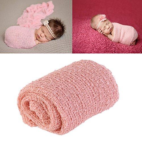 QualitäT In Newborn Baby Photography Props Blanket Rayon Stretch Knit Wraps 40*150cm Lot De Ausgezeichnete
