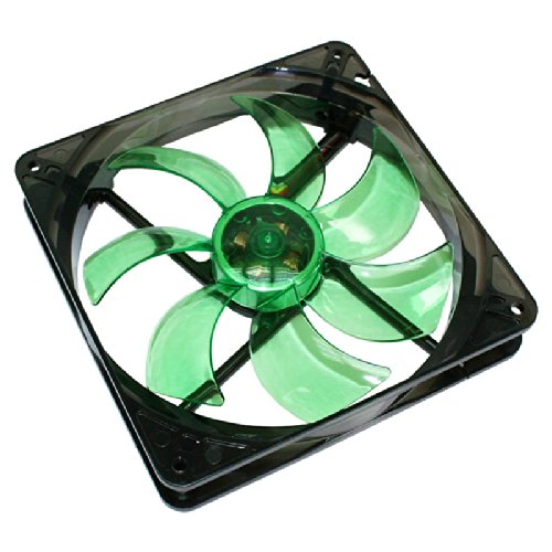 Cooltek Silent Fan 140 PC-Ventilator (Ventilator, Computertasche, 14 cm, Schwarz, Grün, LED, grün)