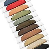 casa pura Sisal Stufenmatten im 15er Set | 100% Naturfaser in 2 Größen | sicherer Halt auf Ihrer Treppe | halbrund 65x24 cm mit Lippe - schwarz