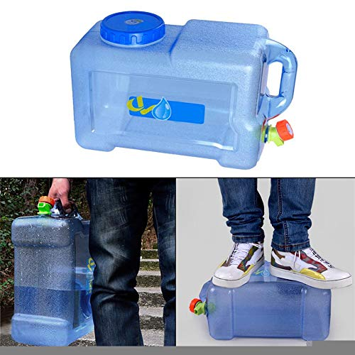 Motto.h Kanister für Lebensmittel, Camping mit Einem Wasserhahn, 12 l, Wasserkanister mit Ausgießer aus dickem Kunststoff für den Transport von Wasser, ideal für Reisen Auto Haus (1 Stück)