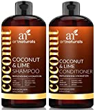 ArtNaturals Kokos-Limone Shampoo und Conditioner Set - je 473 ml - mit Aloe Vera und Hagebuttenextrakt - Intensiver Feuchtigkeitsspender für alle Haartypen