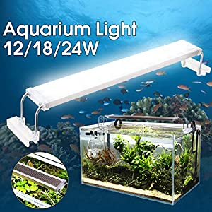 CAVEEN Waterproof Aquarium Fish Tank Lighting for Saltwater and Freshwater Lamp Submersible LED Light Bar with Suction Cups Adaptor Lighting Colour White