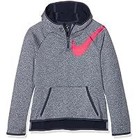 Nike HZ Sudadera, niñas, Azul (Thunder Blue) / Rosa (Racer Pink), M
