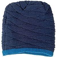 OULII Morbido spessore interno foderato uomo maglia Skull Cap caldo inverno Berretti Slouchy Hat regali (Cappuccio Foderato Hat)