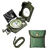 ENKEEO Multifuktionaler Militär Kompass Marschkompass Wasserdichte Taschenkompass für Camping, Wandern und andere Outdoor Aktivitäten (mit Neigungsmesser)