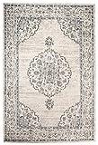 Carpeto Orientalisch Teppich Vintage 140 x 200 cm Creme Grau
