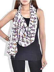 Indian Fashion Guru Womens Silk Stole (Bo-01-00035 _Multicolor _Small)