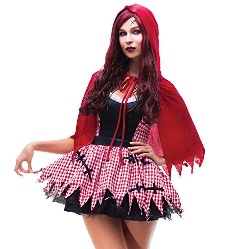 Kostüm Zombie Rotkäppchen - Anladia Halloween Fasching-Party Kostüm Horror Zombie Kostüm Damen Herren Halloween Kleid