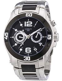 Cerruti 1881 Herren-Armbanduhr XL Analog Quarz Edelstahl beschichtet CRA011E221C