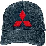 NOT Customized Mitsubishi Car Logo Geek Hat cap for Mens Black,Cappelli e Cappellini