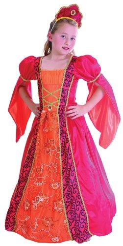 Elisabethanischen Princess Mädchen Kostüm Alter 7-9 (Kostümen Elisabethanischen)