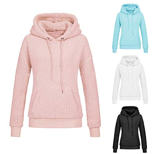 Clearance KEERADS Women's Sweatshirts Fleece Pullover Hoodie Warm Winter Faux Fur Coat Jacket