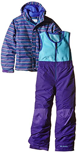 Columbia Kinder Schneeanzug Buga Set, Hyper Purple Stripe, 6/12, SN0030 - Fleece Mädchen Hose Set