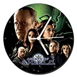 MasTazas Marvels Agents of S.H.I.E.L.D. Shield B Reloj de Pared Wall Clock 20cm