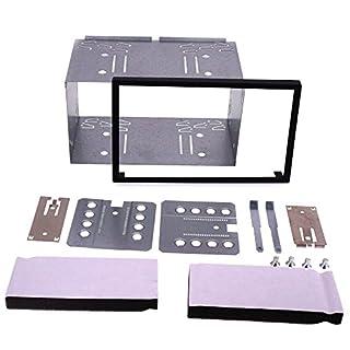 Autostereo 14-003 Universal Doppel-DIN Metal Eisen für Zubehör Auto-Radio Navigation,2-DIN Montagesatz Käfig für Stereoanlage, Doppelkopf Einheit