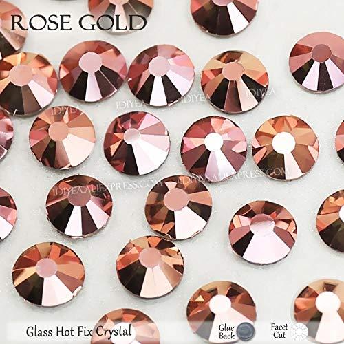 Dream Team Kostüm - PENVEAT Gold Glas Strass rosa Strass