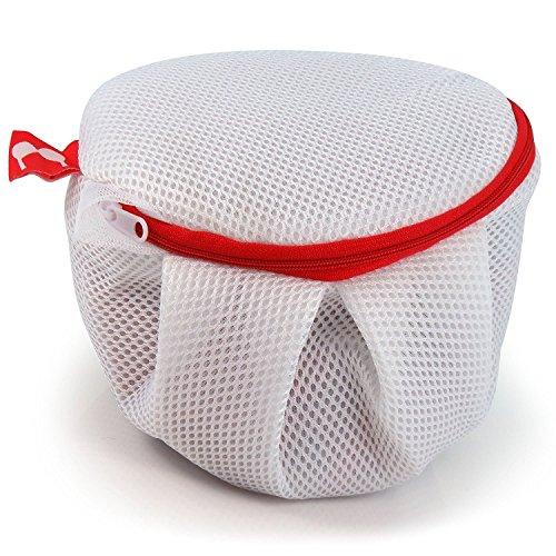 Weißer Netz-Waschbeutel mit Reißverschluss für BHs und Feinwäsche - Hangerworld (Feinwäsche Bhs)