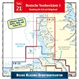 Delius Klasing Sportbootkarten 21. Deutsche Nordseeküste 1: Hamburg bis Sylt mit Helgoland