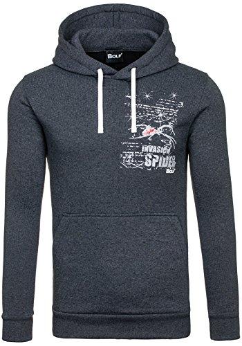 BOLF 59S Anthrazit M [1A1] Kapuzenpullover Sweatshirt Hoodie Kapuze Pullover Ohne Reißverschluss |