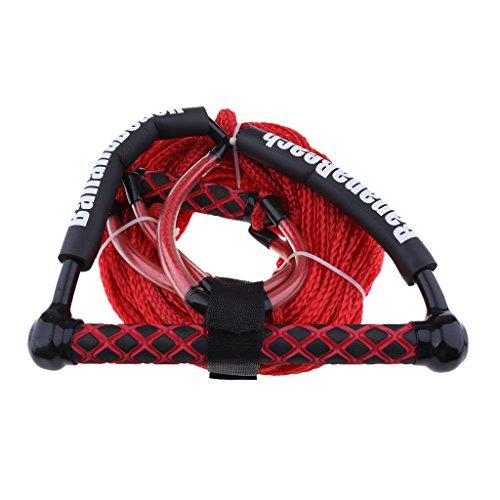 non-brand MagiDeal 1 Stück Rot Sports Wasserskileine Leine Wakeboard Seil Hantel Rope Abschleppseil mit Griff