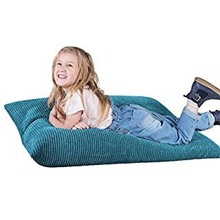 Lounge Pug® - Pom Pom - Kids Bean Bag - CHILDRENS Beanbag UK - AEGEAN BLUE