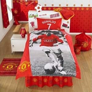 Ronaldo manchester united fc parure de lit avec housse de - Amazon housse de couette ...