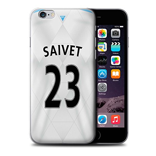 Offiziell Newcastle United FC Hülle / Case für Apple iPhone 6S+/Plus / Mitrovic Muster / NUFC Trikot Away 15/16 Kollektion Saivet
