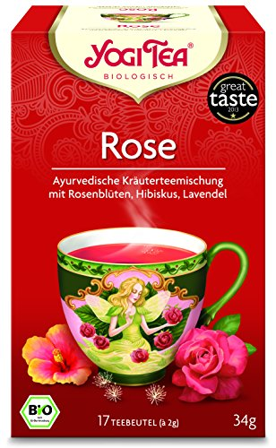 6er Pack Yogi Tee BIO Rose Tao Tee, 17 Btl. à 2g (frachtfreie Lieferung innerhalb Deutschlands ab 20 EUR Einkaufswert) (6) - 6-pack Bio-tees