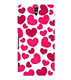 Printvisa Premium Back Cover Pink Hearts Pattern Design For Sony Xperia C5 Ultra Dual::Sony Xperia C5 E5553 E5506::Sony Xperia C5 Ultra